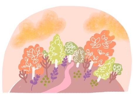A mountain full of autumn