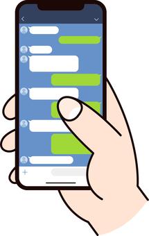 Smartphone screen _ hand _ 01