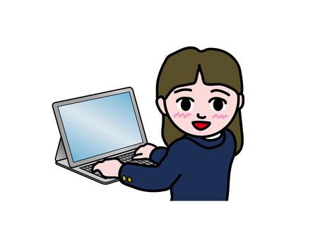 PC operation (151) high school girl