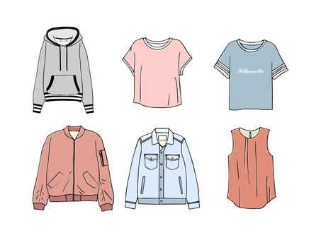Spring fashion tops set