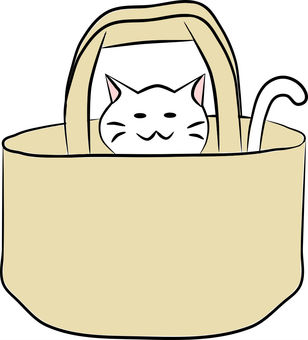 Nyanko in bag