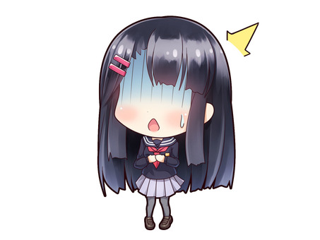 Uniforms girl with black hair _ D4
