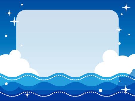 海和天空框架