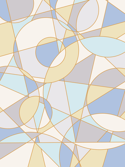 Geometric pattern background material 02 / blue a