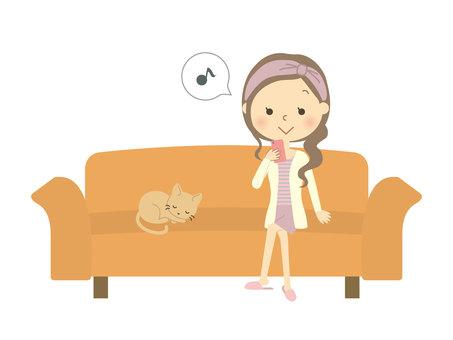 소파에 앉아 여성 6
