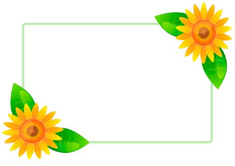 Sunflower frame 3