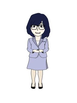 안경 여자 ③