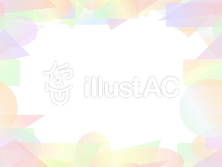 パステル調のカラフルな短形フレーム1a