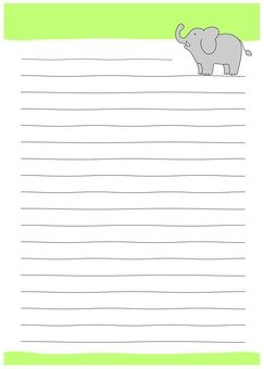 An elephant's letter note