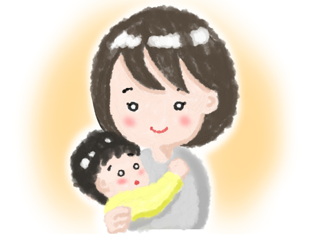 Mom holding a baby