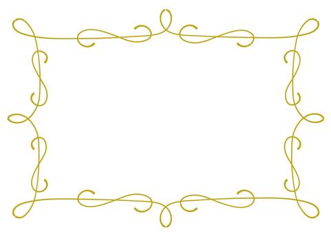 Antique curved frame