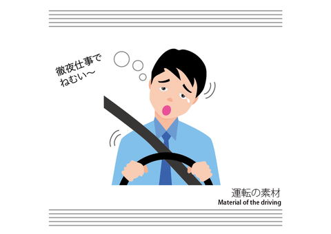 Car driving material 03 Drowsy driving Driver A
