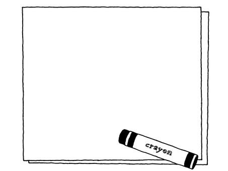 Notepad (crayon) Black and white
