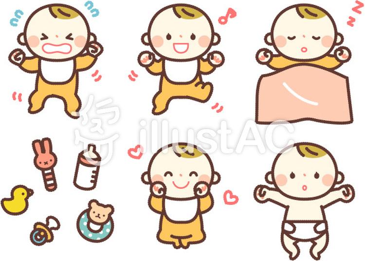 シンプルな人物赤ちゃんイラスト No 1055573無料イラストなら