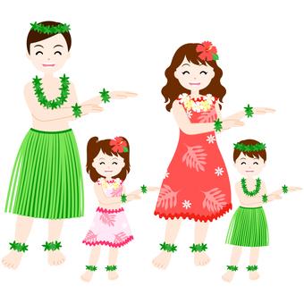 Parent-child hula dance