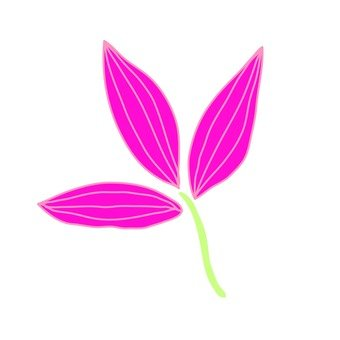 Scandinavian leaves (pink)