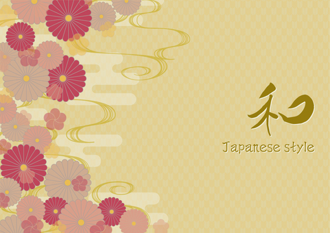 Japanese pattern background material