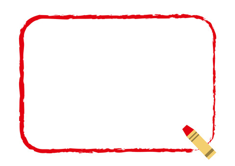 Crayon frame corner