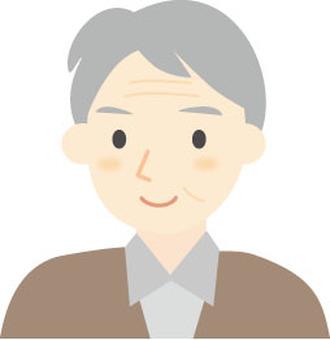 Smiley grandfather