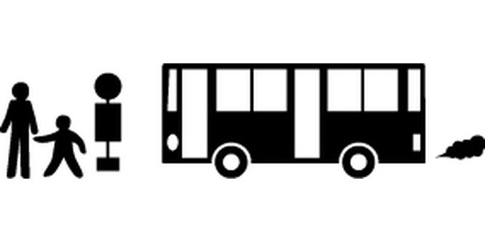 Bus bus stop silhouette