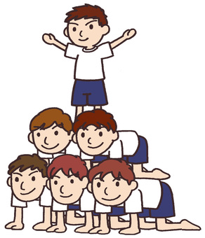 Sports group gymnastics