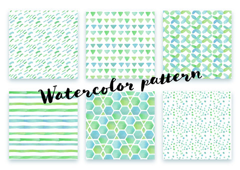 Pattern set 034 watercolor