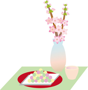 Hail, sweet sake and peach blossoms