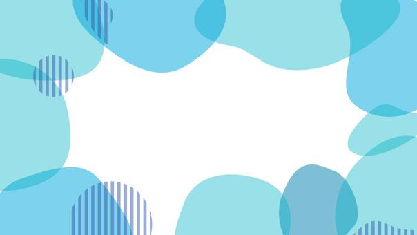 16 : 9 배경 상쾌한 투명 제목란 블루
