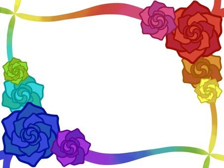 Rose frame (colorful)