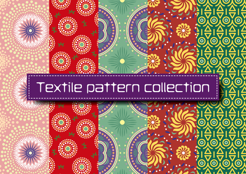 Textile pattern collection for irare Chic