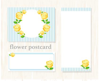 黄色い花のメッセージカード