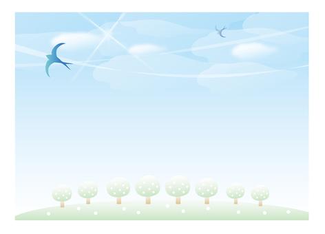 푸른 하늘과 제비