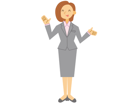 Business woman _ whole body please