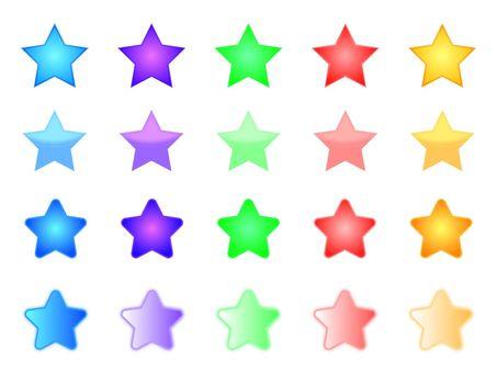 Star · five colors · different color set