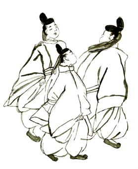 【Reproduction Wind】 Heian House of the People (3 people) no.20