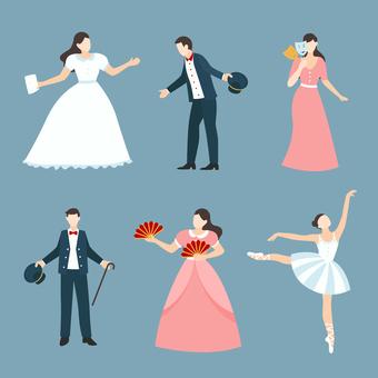 Dance illustration collection