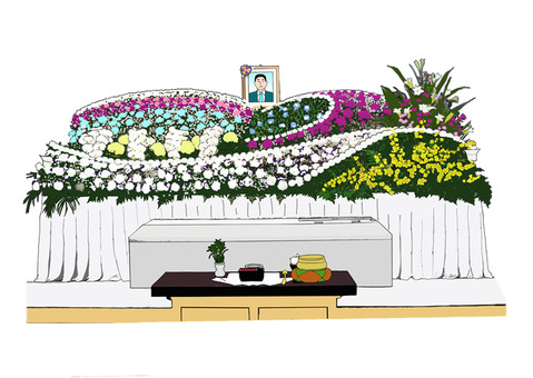 Luxurious fresh flower altar