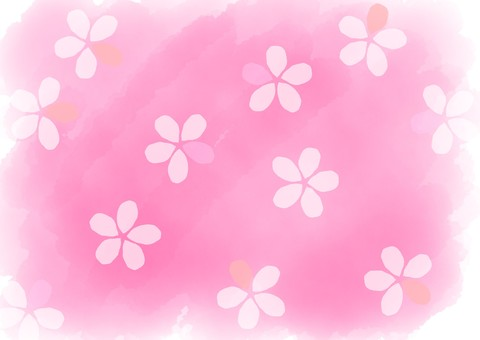 Watercolor Flower background Pink 1