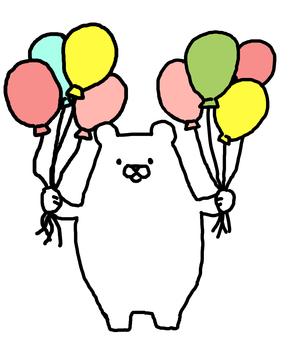 White Bear with balloon