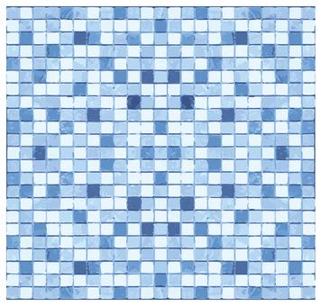 Mosaic tile blue