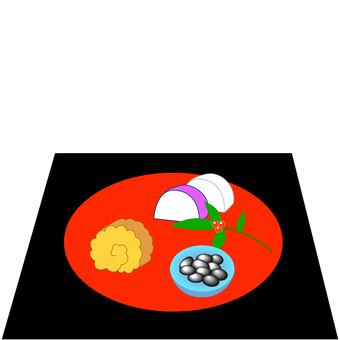 Osechi cooking Date rolled Kamaboko black bean