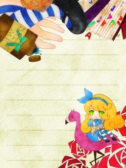 Alice in Wonderland frame letter style