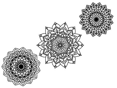 Mandala coloring material