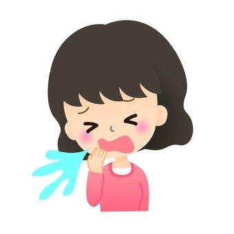 Sneezing women
