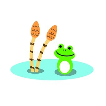 Tsukushi and frogs