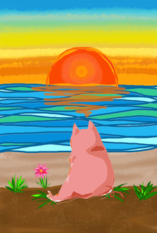 Swine and the sunset
