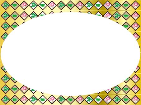 다이아몬드 송죽매 프레임