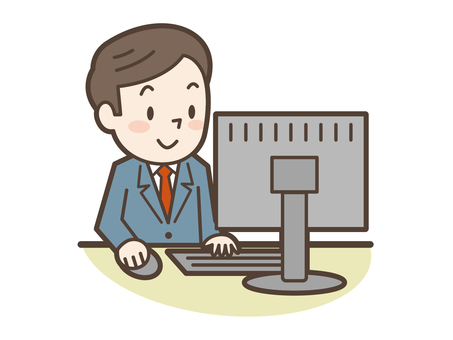 Businessman Personal computer smile