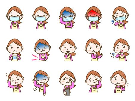 Female facial expression set 04