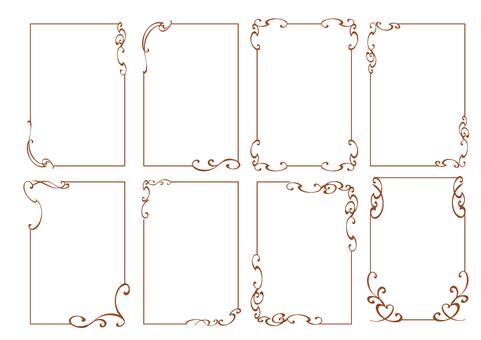Simple frame set 6